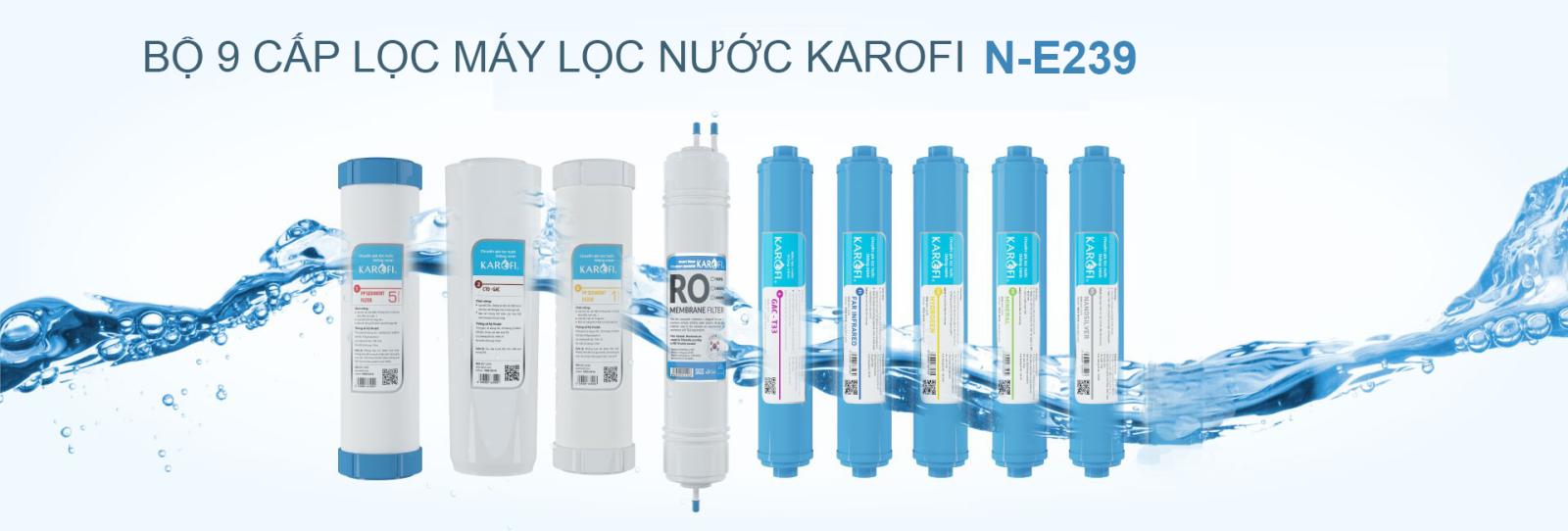 Máy lọc nước Karofi 9 cấp lọc lõi ORP